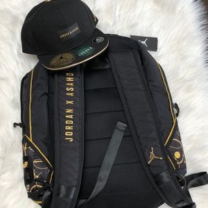 NWT JORDAN X ASAHD COLLAB BACKPACK & MATCHING HAT